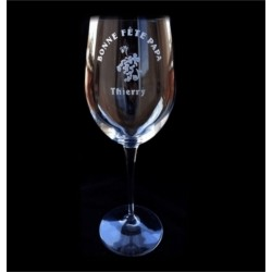 Gravure sur verre à vin