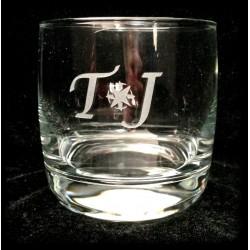 Gravure sur verre à whisky